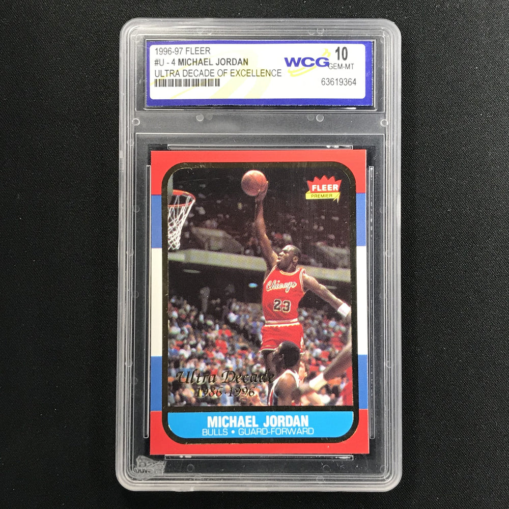 1996-97 Fleer MICHAEL JORDAN Ultra Decade Of Excellence WCG 10 (364)-Cherry Collectables