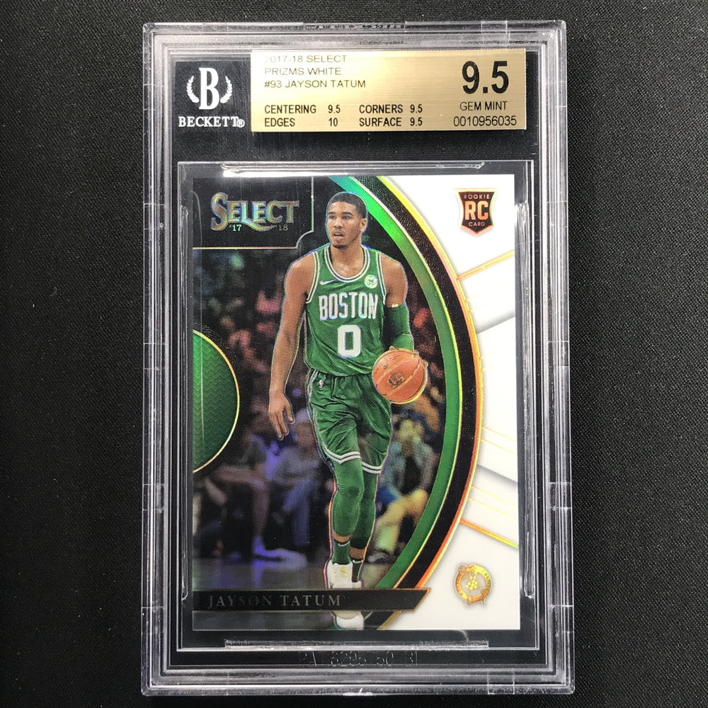 2017-18 Select JAYSON TATUM White Prizm Rookie 7/149 BGS 9.5-Cherry Collectables