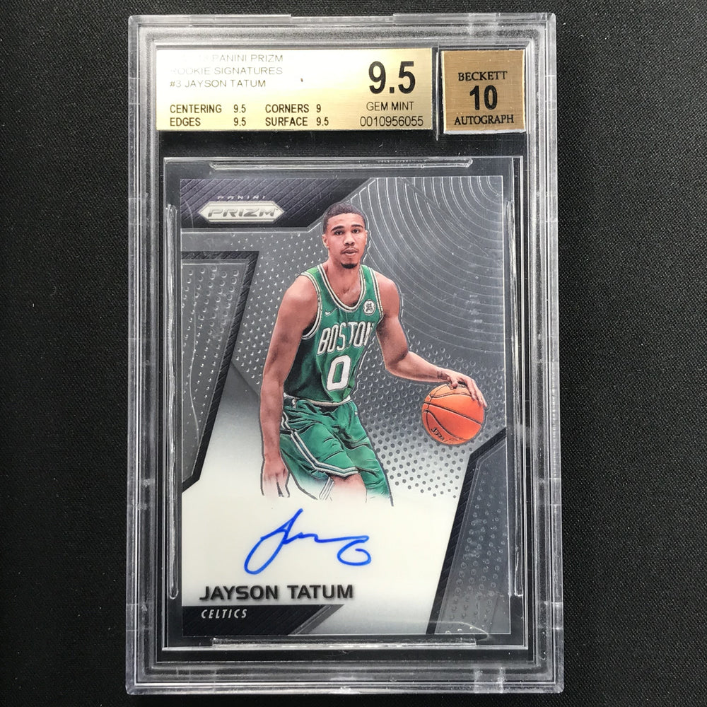 2017-18 Prizm JAYSON TATUM Rookie Signatures Auto 9.5/10-Cherry Collectables