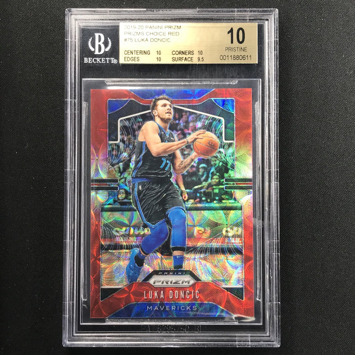 2019-20 Prizm LUKA DONCIC Choice Red Prizm 53/88 BGS 10 Pristine-Cherry Collectables