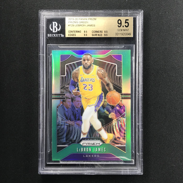 2019-20 Prizm LEBRON JAMES Green Prizm BGS 9.5-Cherry Collectables