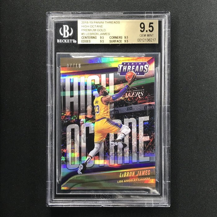 2018-19 Threads LEBRON JAMES High Octane Gold 7/10 BGS 9.5-Cherry Collectables