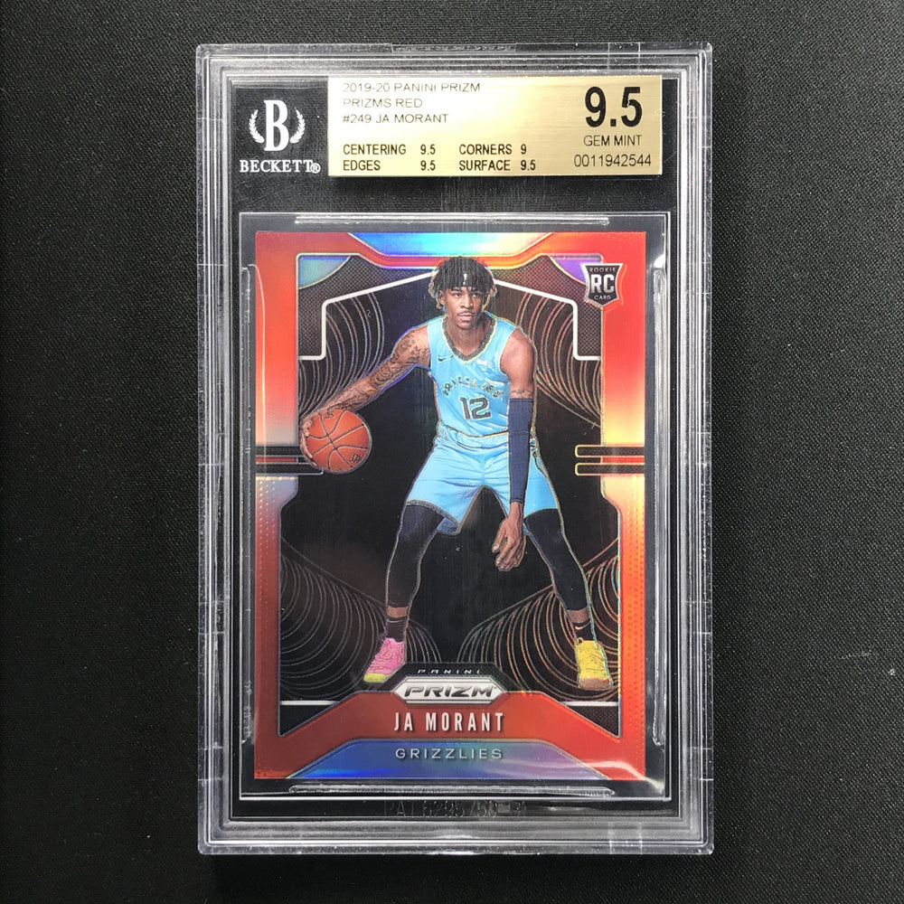 2019-20 Prizm JA MORANT Red Prizm Rookie 120/299 BGS 9.5-Cherry Collectables