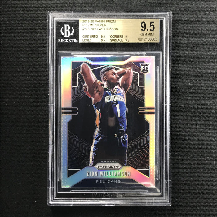 2019-20 Prizm ZION WILLIAMSON Silver Prizm Rookie BGS 9.5 (083)-Cherry Collectables