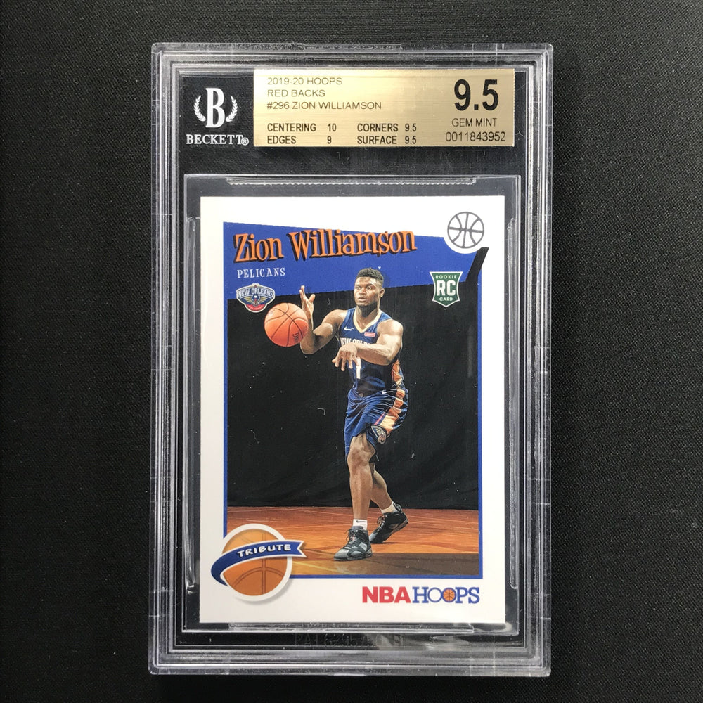 2019-20 Hoops ZION WILLIAMSON Tribute Rookie Red Back BGS 9.5 SSP!-Cherry Collectables