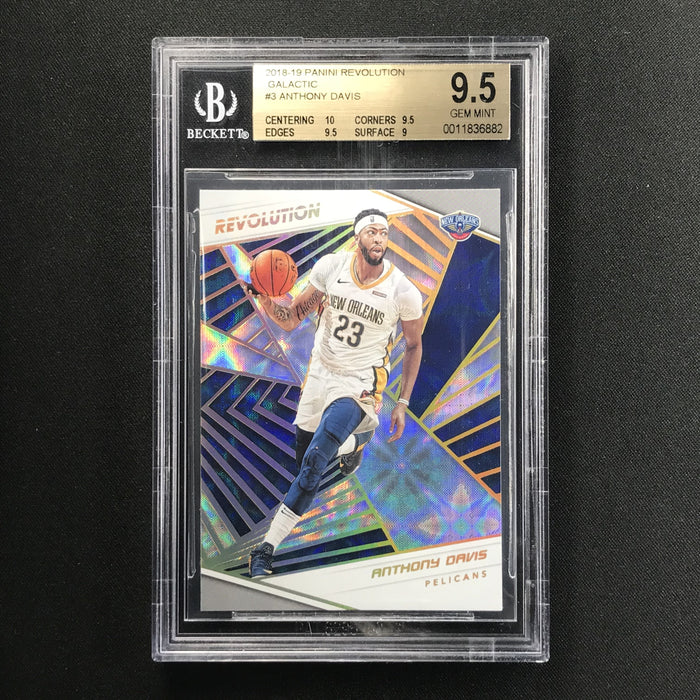 2018-19 Revolution ANTHONY DAVIS Galactic BGS 9.5 SSP-Cherry Collectables