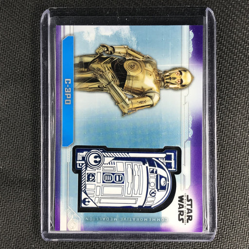 2019 Topps Star Wars Rise Of Skywalker C-3PO Medallion 87/99-Cherry Collectables