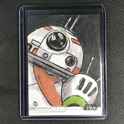 2019 Topps Star Wars Rise Of Skywalker BB-8 & D-0 Sketch Card 1/1-Cherry Collectables