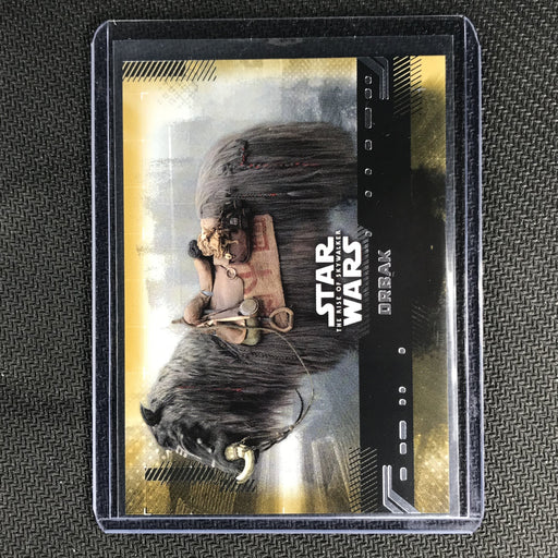2019 Topps Star Wars Rise Of Skywalker ORBAK Gold 15/25-Cherry Collectables