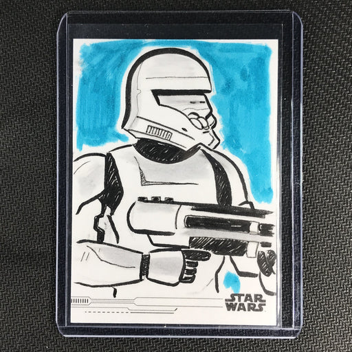 2019 Topps Star Wars Rise Of Skywalker Stormtrooper Sketch Card 1/1 Cosley-Cherry Collectables