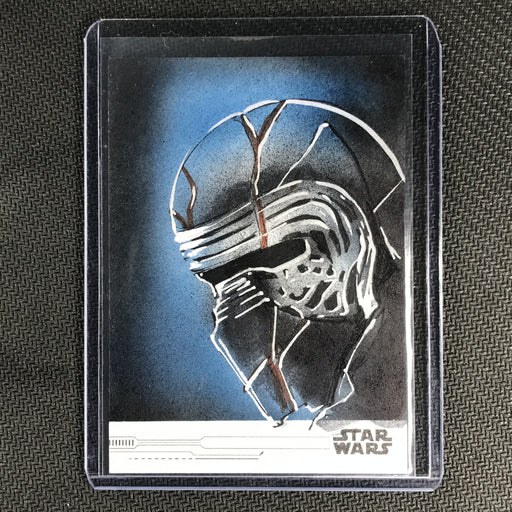 2019 Topps Star Wars Rise Of Skywalker KYLO REN Sketch Card 1/1-Cherry Collectables
