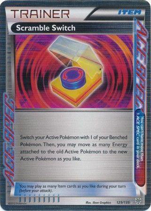 Scramble Switch - 129/135 - Holo Rare - Plasma Storm-Cherry Collectables