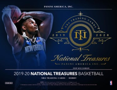 19-20 National Treasures NBA 1-Box Break #24HR20 - Random Player Break - Dec 20 (Midnight)-Cherry Collectables