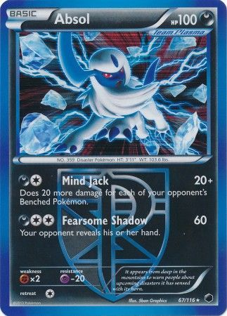 Absol - 67/116 - Holo Rare-Cherry Collectables