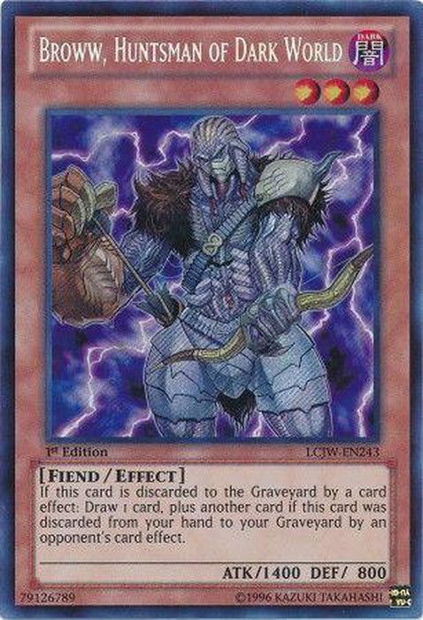 US PRINT Broww, Huntsman of Dark World - LCJW-EN243 - Secret Rare - 1st Edition-Cherry Collectables