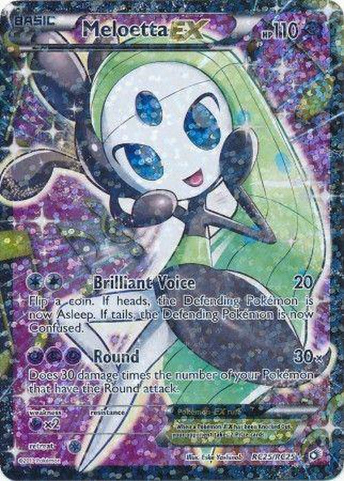 Meloetta EX - RC25/RC25 - Full Art Ultra Rare Legendary Treasures-Cherry Collectables