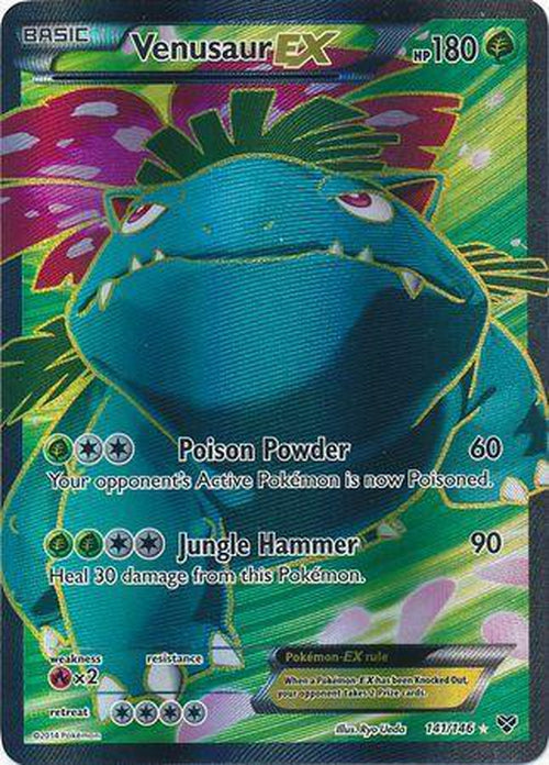 Venusaur EX - 141/146 - Full Art Ultra Rare-Cherry Collectables