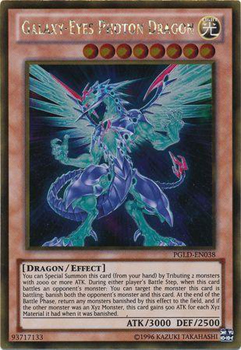 Galaxy-Eyes Photon Dragon - PGLD-EN038 - Gold Rare Unlimited-Cherry Collectables