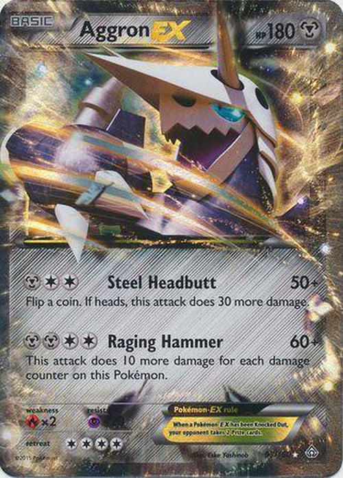 Aggron EX - 93/160 - Ultra Rare - Primal Clash-Cherry Collectables
