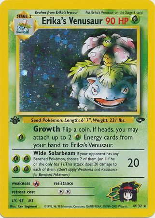 Erika's Venusaur - 4/132 - Holo 1st Edition-Cherry Collectables
