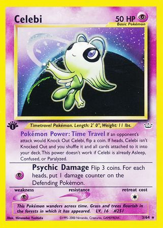 Celebi - 3/64 - Holo 1st Edition-Cherry Collectables