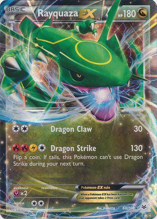 Rayquaza EX - 60/108 - Ultra Rare - Roaring Skies-Cherry Collectables