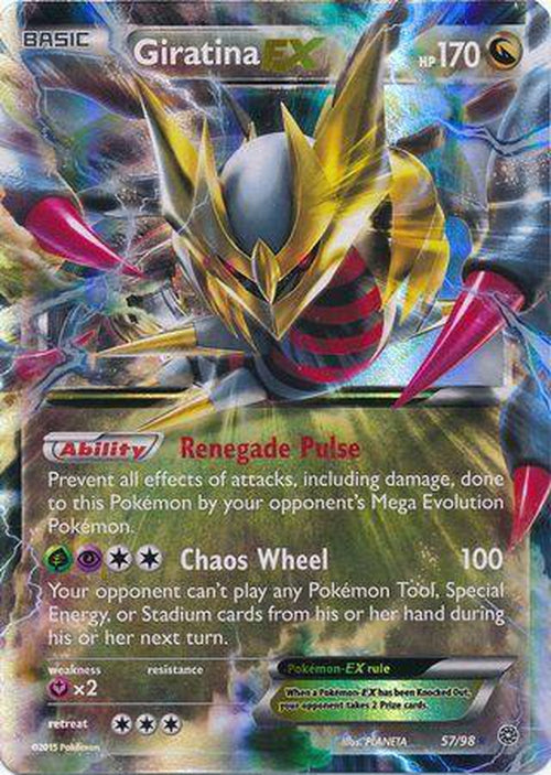 Giratina EX - 57/98 - Ultra Rare - Ancient Origins-Cherry Collectables