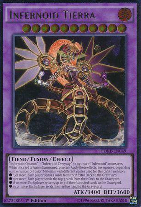 Ultimate Rare - Infernoid Tierra - CORE-EN049 1st Edition-Cherry Collectables
