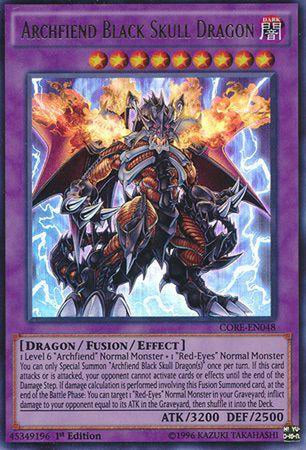 Archfiend Black Skull Dragon - CORE-EN048 - Ultra Rare 1st Edition