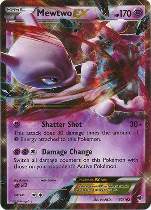 Mewtwo EX - 62/162 - Ultra Rare - Breakthrough-Cherry Collectables