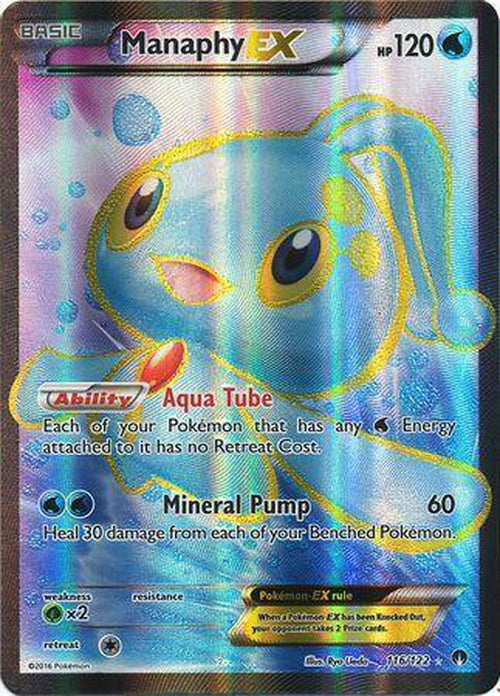 Manaphy EX - 116/122 - Full Art Ultra Rare - Breakpoint-Cherry Collectables