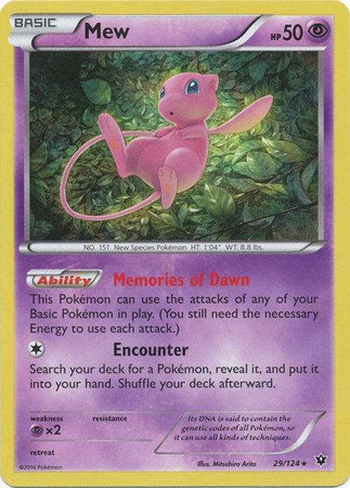 Mew - 29/124 - Holo Rare - Fates Collide-Cherry Collectables
