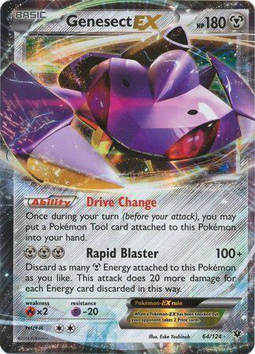 Genesect EX - 64/124 - Ultra Rare - Fates Collide-Cherry Collectables