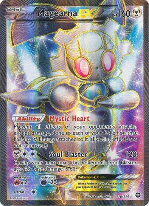Magearna EX - 110/114 - Full Art Ultra Rare-Cherry Collectables
