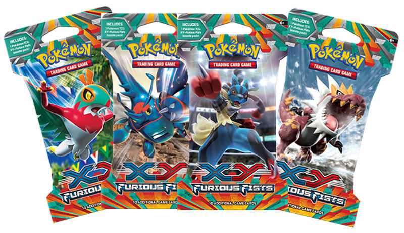 Pokemon XY Furious Fists Blister Booster Pack-Cherry Collectables