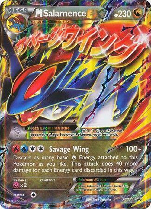 Mega Salamence EX - XY171 - Ultra Rare Promo-Cherry Collectables