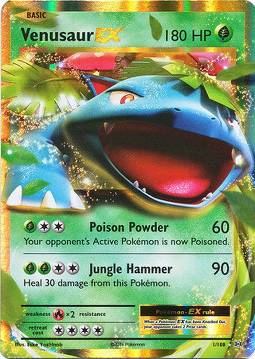 Venusaur EX - 1/108 - Ultra Rare-Cherry Collectables