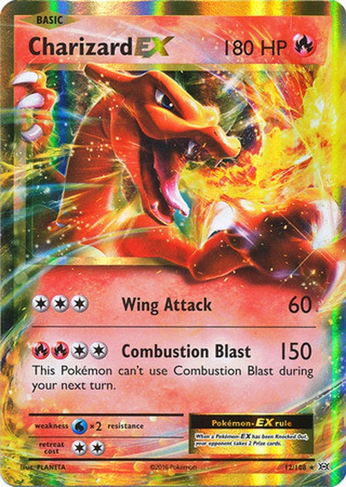 Charizard EX - 12/108 - Ultra Rare-Cherry Collectables