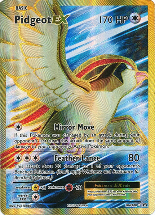 Pidgeot EX - 104/108 - Full Art Ultra Rare - Cherry Collectables