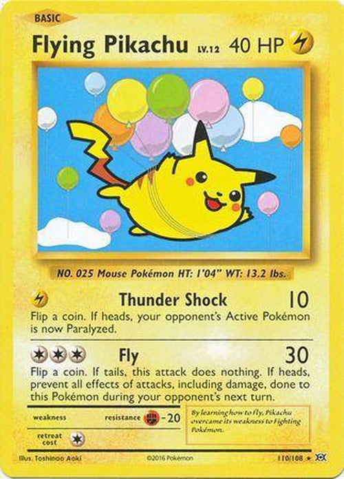 Flying Pikachu - 110/108 - Secret Rare-Cherry Collectables