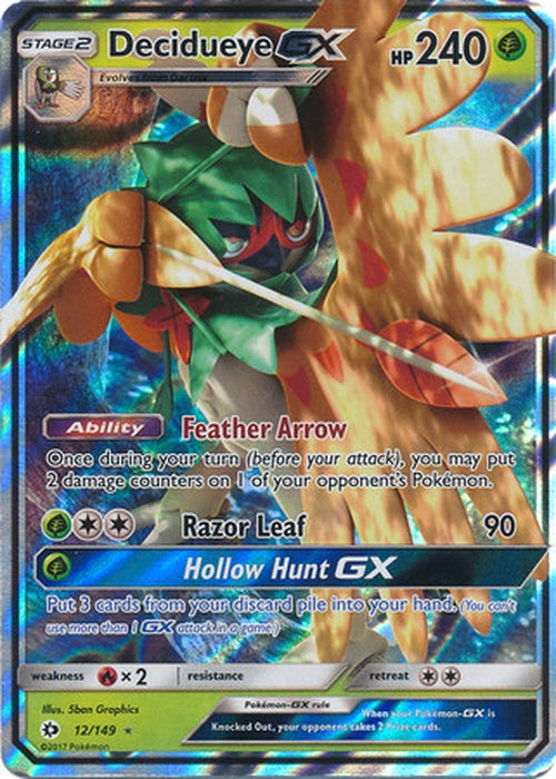 Decidueye GX - 12/149 - Ultra Rare - Sun & Moon Base Set-Cherry Collectables