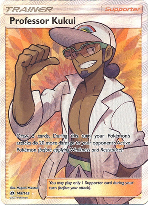 Professor Kukui - 148/149 - Full Art Ultra Rare - Sun & Moon Base Set-Cherry Collectables