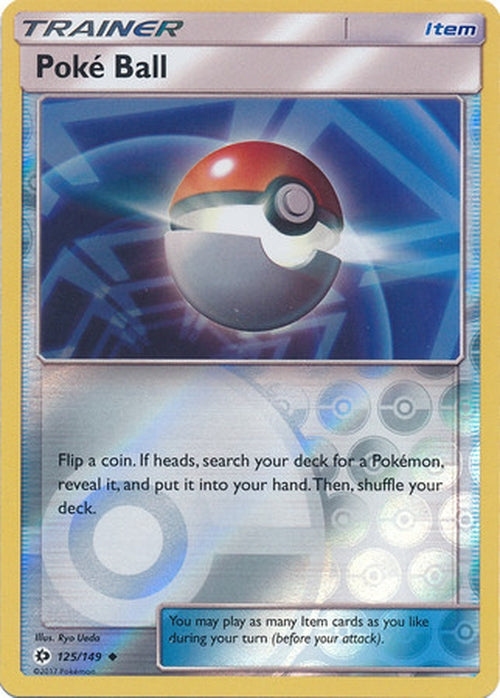 Poke Ball - 125/149 - Uncommon Reverse Holo-Cherry Collectables