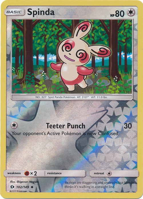 Spinda - 102/149 - Uncommon Reverse Holo-Cherry Collectables