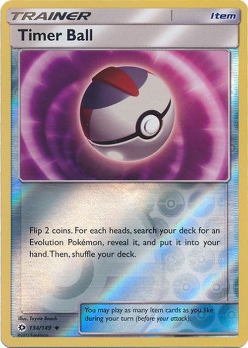 Timer Ball - 134/149 - Uncommon Reverse Holo-Cherry Collectables