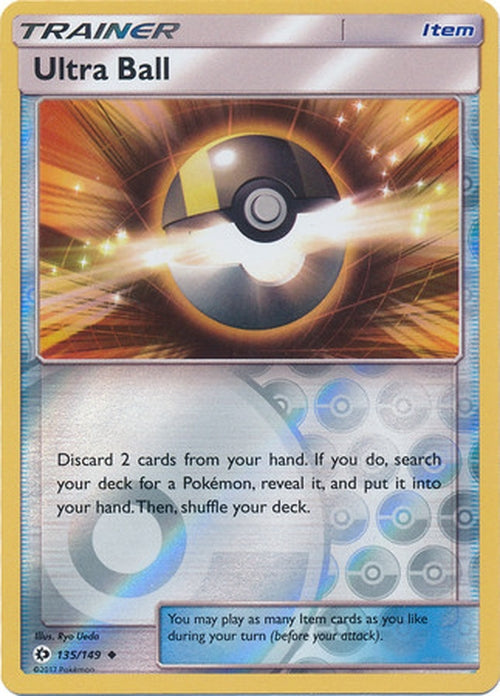 Ultra Ball - 135/149 - Uncommon Reverse Holo-Cherry Collectables