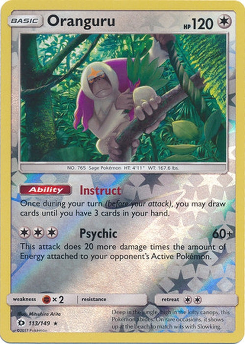 Oranguru - 113/149 - Rare Reverse Holo-Cherry Collectables