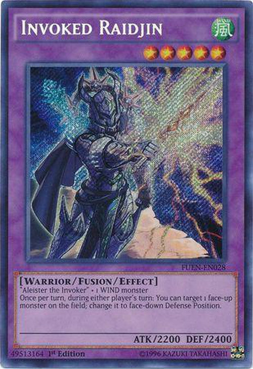 Invoked Raidjin - FUEN-EN028 - Secret Rare 1st Edition-Cherry Collectables