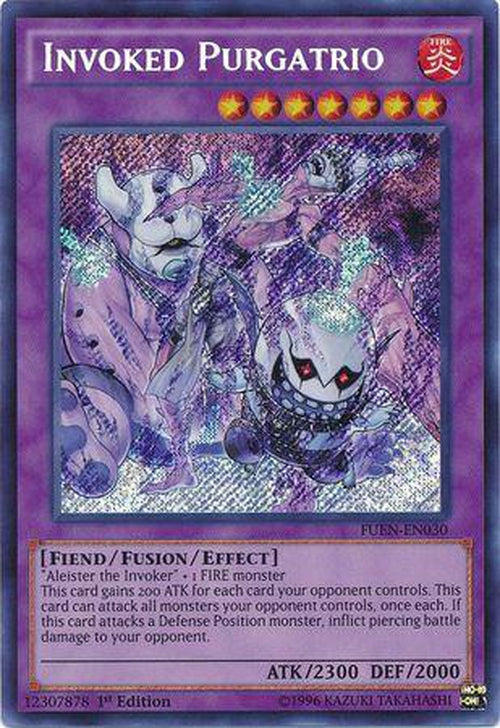 Invoked Purgatrio - FUEN-EN030 - Secret Rare 1st Edition-Cherry Collectables