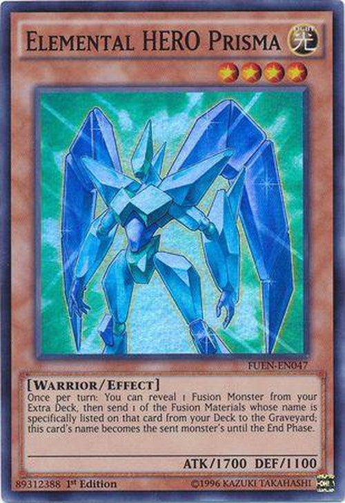 Elemental Hero Prisma - FUEN-EN047 - Super Rare 1st Edition-Cherry Collectables